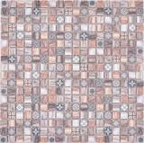 Mosaikfliese Glasmosaik Kombi Retro wood braun Küchenrückwand Badezimmer MOS78-W89