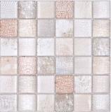 Mosaikfliese Glasmosaik Kombi Forest beige Küchenrückwand Bad MOS78-W38