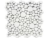 Mosaikfliese Keramik Mosaik Kiesel uni weiß matt Küche Badezimmer MOS12-0111