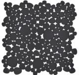 Kieselmosaik Pebbles Keramikdrops Mosaik Kiesel uni schwarz matt Fliesenspiegel Küche Bad MOS12-0311