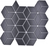 Mosaikfliese Keramik Mosaik Kombi 3D Würfel uni schwarz matt Badezimmer Küche Wand MOS13-POV5_f