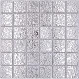 Mosaikfliese Keramik Mosaik Uni uni silber gehämmert Fliesenspiegel Küche MOS16-0207_f