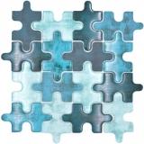 Mosaikfliese Glasmosaik Kombi Puzzle mix türkis blau Küchenrückwand Badezimmer MOS88-PT03_f