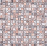 Mosaikfliese Glasmosaik Kombi Retro wood braun Küchenrückwand Badezimmer MOS78-W89_f