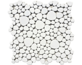 Mosaikfliese Keramik Mosaik Kiesel uni weiß matt Küche Badezimmer MOS12-0111_f
