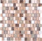 Mosaikfliese Mosaik Verbund Multiformat Stein Resin Keramik mix emperador Fliesenspiegel MOS85-2FD_f