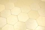 Handmuster Mosaikfliese Selbstklebende Mosaike hexagonal metall gold Küche Wand MOS200-4GHX_m
