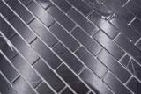 Handmuster Mosaikfliese Selbstklebende Mosaike Verbund Naturstein Nero Küche Wand MOS200-4M82_m