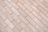 Handmuster Mosaikfliese Selbstklebende Mosaike Verbund Naturstein Travertine beige MOS200-4M92_m