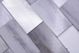 Handmuster Mosaikfliese Selbstklebende Mosaike Vinyl Zementoptik Mix grau Subway Küche MOS200-5S59_m