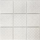Retro Vintage Mosaik Fliese Keramik grau Geo Grey MOS22B-1402_f | 10 Mosaikmatten