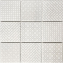 Retro Vintage Mosaik Fliese Keramik grau Geo Grey MOS22B-1402