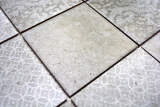 Retro Vintage Mosaik Fliese Keramik grau MOS22-CELLO