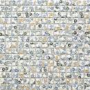 Mosaikfliese Retro Vintage Keramik weiß bunt Blumen Fliesenspiegel MOS18C-1401_f | 10 Mosaikmatten