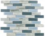 Verbundmosaik Glas Keramikmosaik grau Stäbchen Fliesenspiegel MOS26-0202