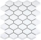 Mosaik Fliese Keramik Diamant Metro weiß glänzend Fliesenspiegel Küche MOS13MD-0101