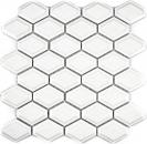 Mosaik Fliese Keramik Diamant Metro weiß matt Fliesenspiegel Küche MOS13MD-0111
