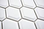 Mosaik Fliese Keramik Diamant Metro weiß matt Fliesenspiegel Küche MOS13MD-0111_m