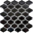 Mosaik Fliese Keramik Diamant Metro schwarz glänzend Fliesenspiegel Küche MOS13MD-0301