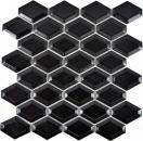 Mosaik Fliese Keramik Diamant Metro schwarz matt Fliesenspiegel Küche MOS13MD-0311