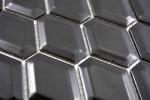 Mosaik Fliese Keramik Diamant Metro schwarz matt Fliesenspiegel Küche MOS13MD-0311_m