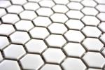 Mosaik Fliese Keramik Hexagon weiß glänzend Fliesenspiegel Küche MOS11A-0102_m