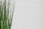 Mosaik Fliese Keramik Hexagon weiß glänzend Küchenrückwand Spritzschutz MOS11B-0102_m