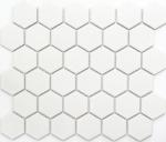 Mosaik Fliese Keramik Hexagon weiß matt Wandfliesen Badfliese MOS11B-0111_f | 10 Mosaikmatten