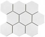 Mosaik Fliese Keramik Hexagon weiß glänzend Küche Fliese WC Badfliese MOS11F-0101_f | 10 Mosaikmatten