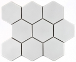 Mosaik Fliese Keramik Hexagon weiß matt MOS11F-0111