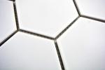 Mosaik Fliese Keramik Hexagon weiß matt Küche Fliese WC Badfliese MOS11F-0111_m