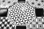 Mosaik Fliese Keramik Octagon MISTO weiß glänzend schwarz Mosaikwand Küchenrückwand MOSOcta-0301_m
