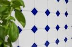 Mosaik Fliese Keramik Octagonal weiß matt kobaltblau glänzend Mosaikwand Küchenrückwand MOSOcta-180_m