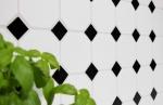 Mosaik Fliese Keramik Octagonal weiß matt schwarz glänzend Wandfliesen Badfliese MOSOcta-190_m