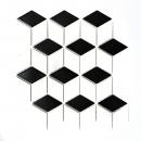 Mosaik Fliese Keramik 3D Würfel weiß schwarz glänzend Wandfliesen Badfliese MOS13-OV01