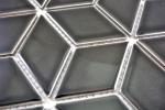 Mosaik Fliese Keramik schwarz 3D Würfel schwarz glänzend  Fliesenspiegel MOS13OV-0301_m