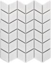 Mosaik Fliese Keramik Diamant weiß glänzend Welle Küchenrückwand Spritzschutz MOS13DS-0101