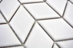 Mosaik Fliese Keramik Diamant weiß glänzend Welle Küchenrückwand Spritzschutz MOS13DS-0101_m