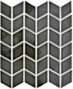 Mosaik Fliese Keramik weiß Diamant schwarz glänzend Welle Küchenrückwand Spritzschutz MOS13DS-0302_f | 10 Mosaikmatten