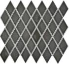 Mosaik Fliese Keramik Diamant schwarz glänzend Duschrückwand Fliesenspiegel Küche MOS13-DS0301