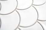 Mosaik Fliese Keramik Fächer weiß glänzend Fliese WC Badfliese MOS13-FS01_m
