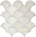 Mosaik Fliese Keramik grau Fächer steingrau glänzend MOS13-FS02_f | 10 Mosaikmatten