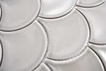 Mosaik Fliese Keramik grau Fächer steingrau glänzend MOS13-FS02_m
