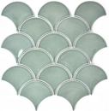 Mosaik Fliese Keramik Fächer petrol glänzend MOS13-FS18
