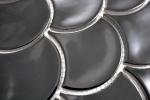 Mosaik Fliese Keramik Fächer schwarz glänzend Fliese WC Badfliese MOS13-FS03_m