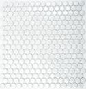 Knopfmosaik LOOP Rundmosaik weiß glänzend Wand Küche Dusche BAD MOS10-0102