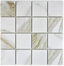 Mosaik Fliese Keramik weiß Calacatta MOS16-0112
