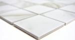 Mosaikfliese Calacatta weiß beige Keramik Badfliese Fliesenspiegel MOS16-0112_m