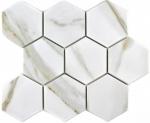 Mosaik Fliese Keramik weiß Hexagon Calacatta Wandfliesen Badfliese MOS11F-0112_f | 10 Mosaikmatten