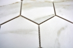 Mosaik Fliese Keramik weiß Hexagon Calacatta Wandfliesen Badfliese MOS11F-0112_m